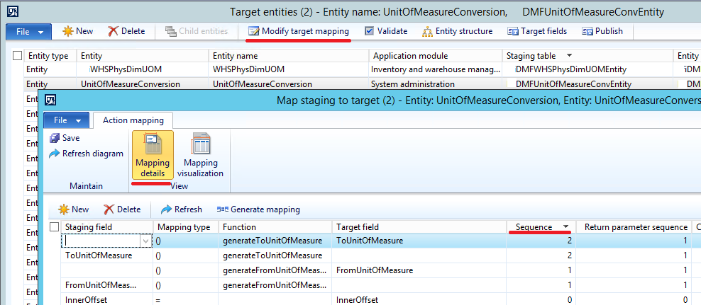 Staging to target mapping form